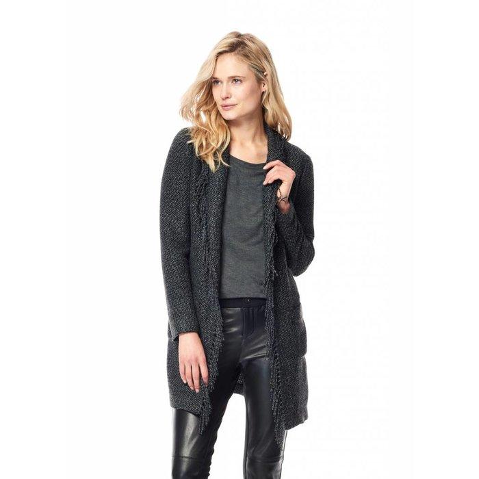 Fringe Trim Tweed Jacket
