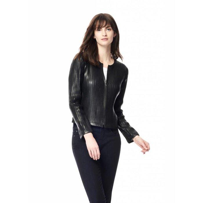 Strip Leather Jacket