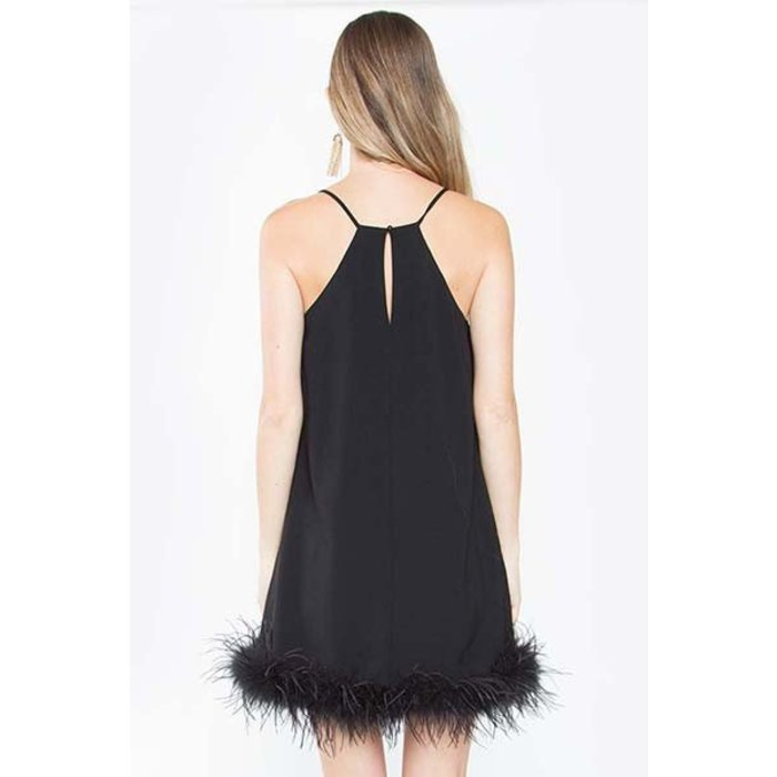 Marabou Feather Dress
