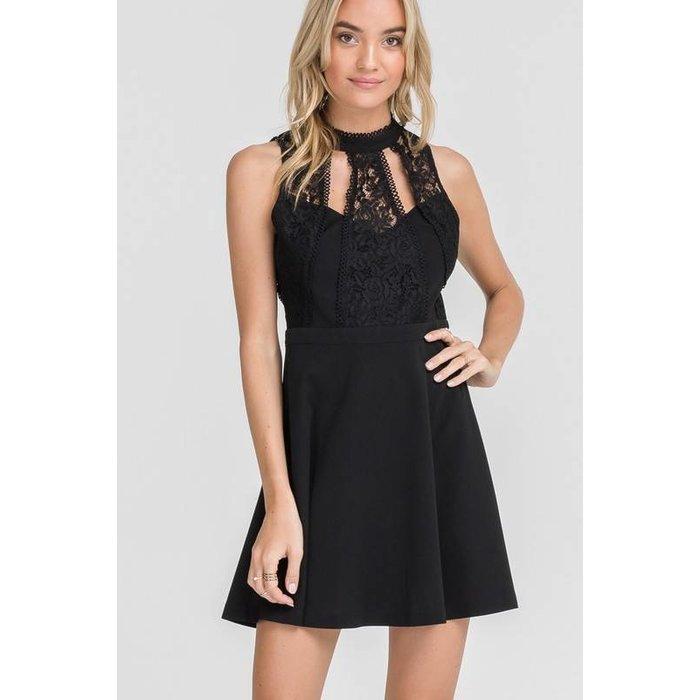 Open Back Lace Dress