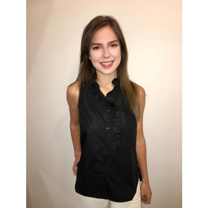 Ruffle Sleeveless Shirt