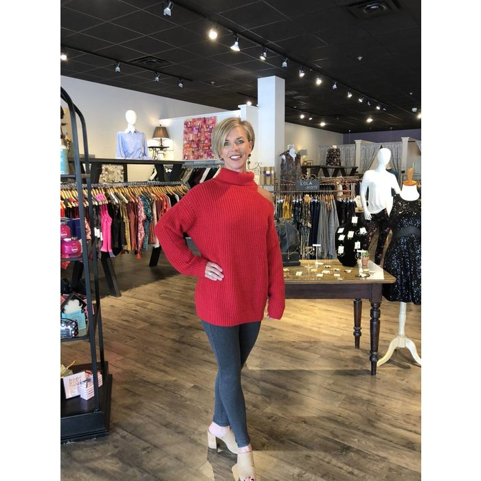 Aster Cherry Red Sweater