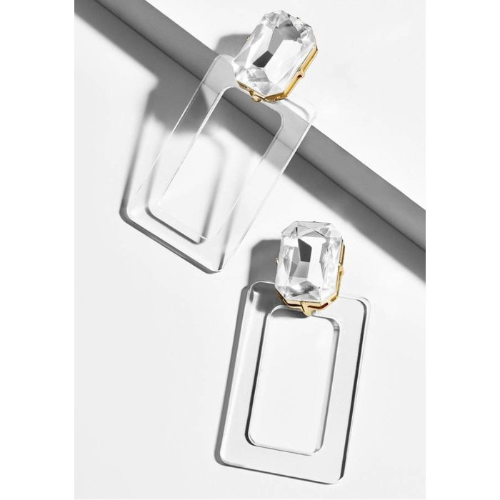 Luza Lucite Drop Earrings