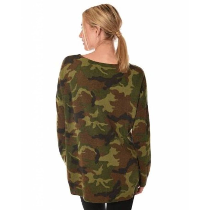 Cashmere Blend Camo Sweater