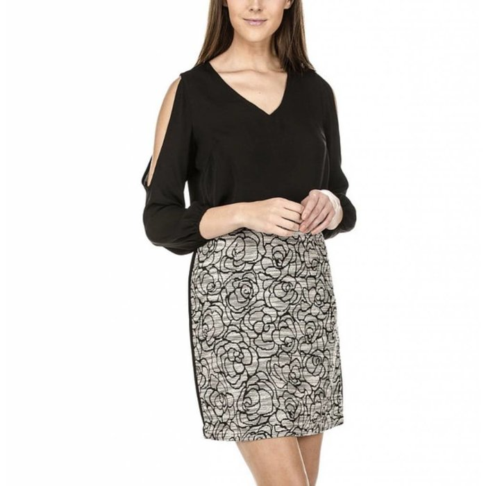 Jade Roses Side Trim Skirt