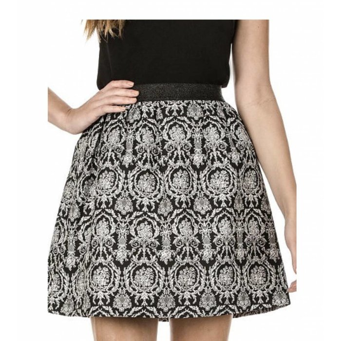 Jade Metallic Elastic Waist Skirt
