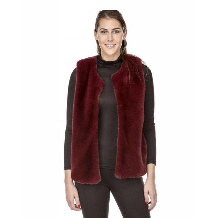 Jade Faux Fur Open Vest