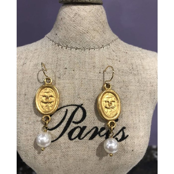 Chanel Tag Earring