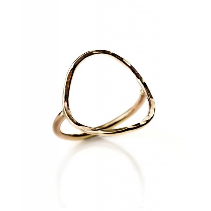 Large Oval Ring Gold Filled