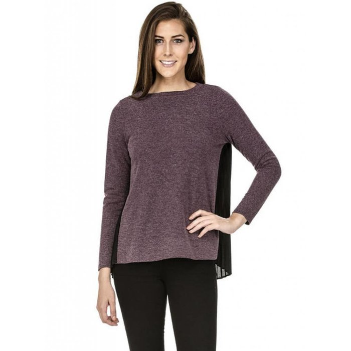 Pleated Back Pullover