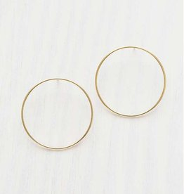 Stella Earrings Brass with 14k Gold Plate