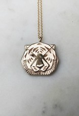 Tiger Pendant and Necklace by MIMOSA- Large