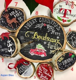 Holiday Wood Slice Ornaments
