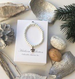 "Fleur-de-Lis Pearl Bracelet 5""- RH-20"