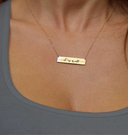 It is Well Bar Necklace Gold