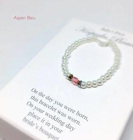 "Baby""s First Keepsake Bracelet w/ Pink Crystal"