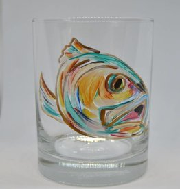 Redfish Lowball Glass