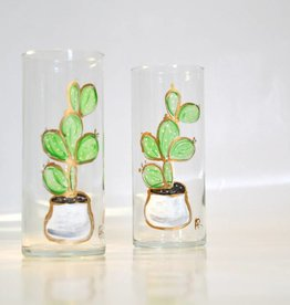 Hand-painted Cactus Glass