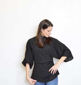 Aspen Gathered Side Bell Sleeve Shirt