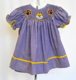 Southern Sweet LSU Tigers Smocked Dress
