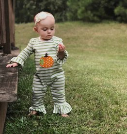Applique Holiday Pumpkin Girl's Romper