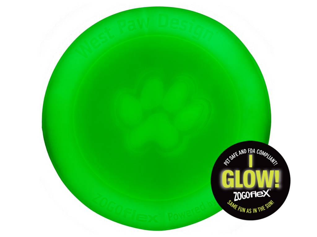 West Paw Designs West Paw Zogoflex Toy- Zisc GLOW