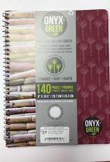 """ONXG Onyx Green Notebook 8'x10.5"""" Sugar Cane"""