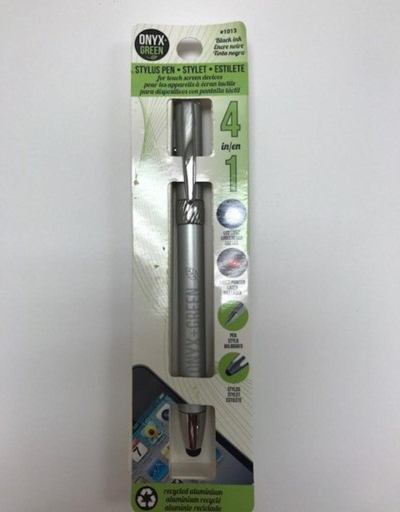 ONXG Onyx Green Pen Stylus/Lazer Silver