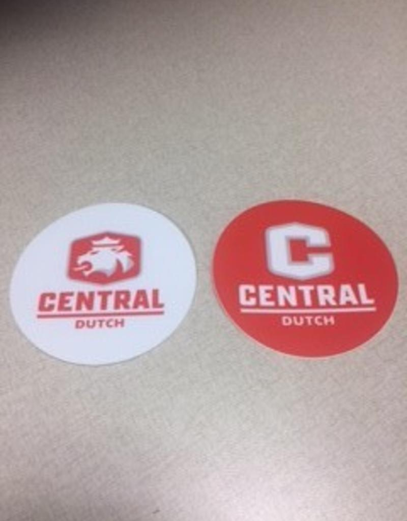Sticker Mule Circle Sticker Red w/White
