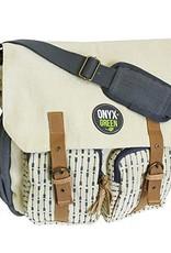 ONXG Onyx Green Messenger Linen