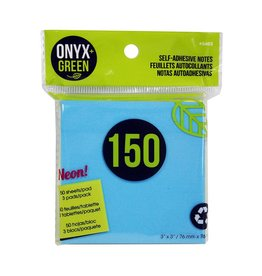 "ONXG Onyx Green 3""x3"" stick note"