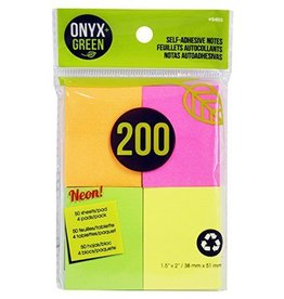 "ONXG Onyx Green 1 1/2""x2"" sticky note"