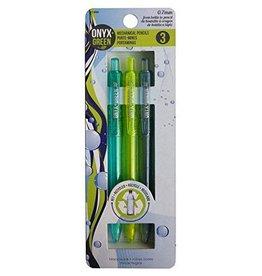ONXG Onyx Green Pencil Mechanical 3 pk