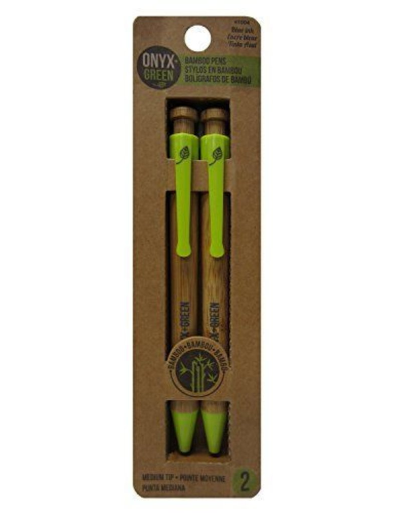 ONXG Onyx Green Pen Bamboo 2pk