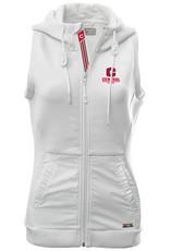 LEVELWEAR LW Full Zip Hooded Vest White