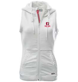 LEVELWEAR LW Full Zip Hooded Vest White