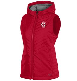UA UA Hooded Puffer Vest Red