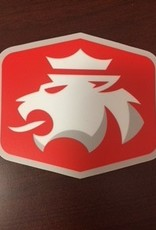 Sticker Mule Mule Sticker Die Cut Red w/ Lion 4""