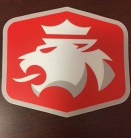 """Sticker Mule Sticker Mule Die Cut Sticker 4"""" Red w/ Lion"""