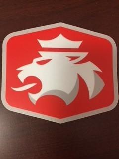 """Sticker Mule Mule Sticker Die Cut Red w/ Lion 4"""""""