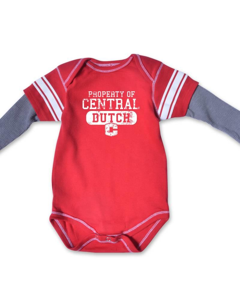 COLLKIDS College Kids Running Back LS Onsie