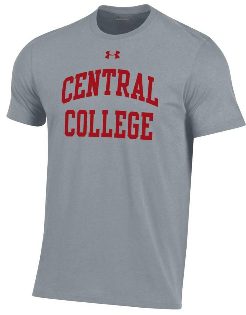UA UA Perf Cotton Gray Red CC
