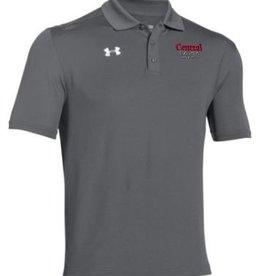 UA UA Gray Performance Polo Academic Logo Red/Gry