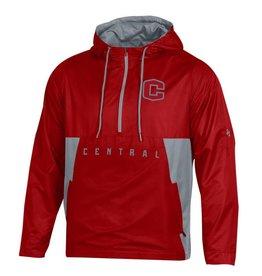 UA UA SMU Red/Gray Hooded Jacket 1/4