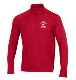 UA UA Charged Cotton 1/4 Zip Red LC Lion