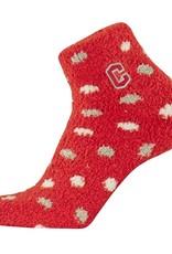 TCK TCK Cozy Sock Red Polka Dot