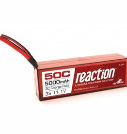 DYN Reaction 11.1V 5000mAh 3S 50C LiPo, Hardcase: EC3