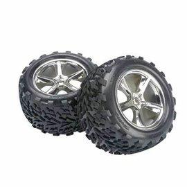 Traxxas T/E-Maxx & Revo Gemini Wheels with Talon Tires Mounted