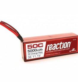 DYN Reaction 11.1V 5000mAh 3S 50C LiPo, Hardcase:Deans