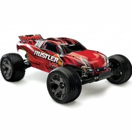 1/10 Rustler 2wd RTR VXL with TSM Brushless; Red